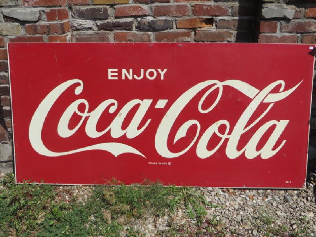 Coca- Cola Enameled Sign