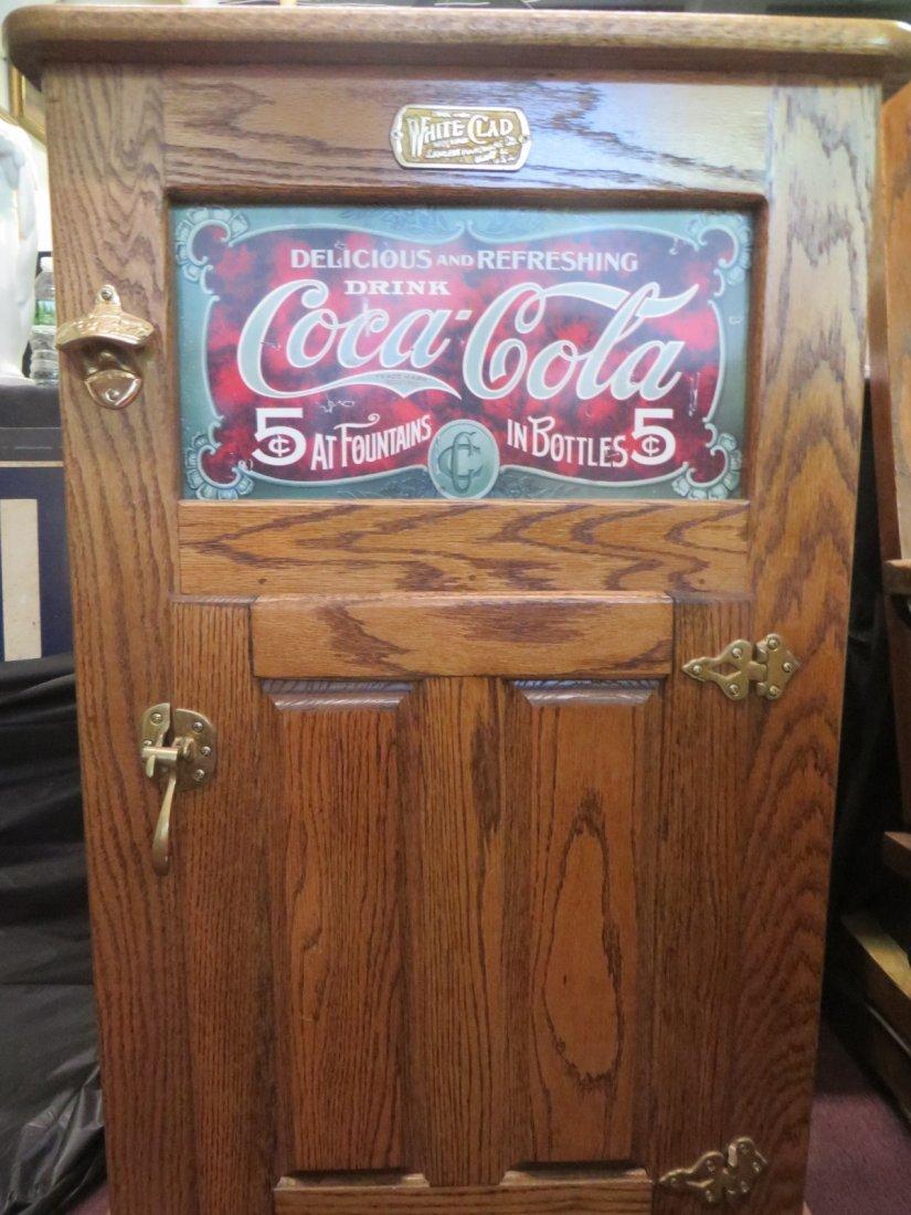 Coca-Cola Oak Ice Box