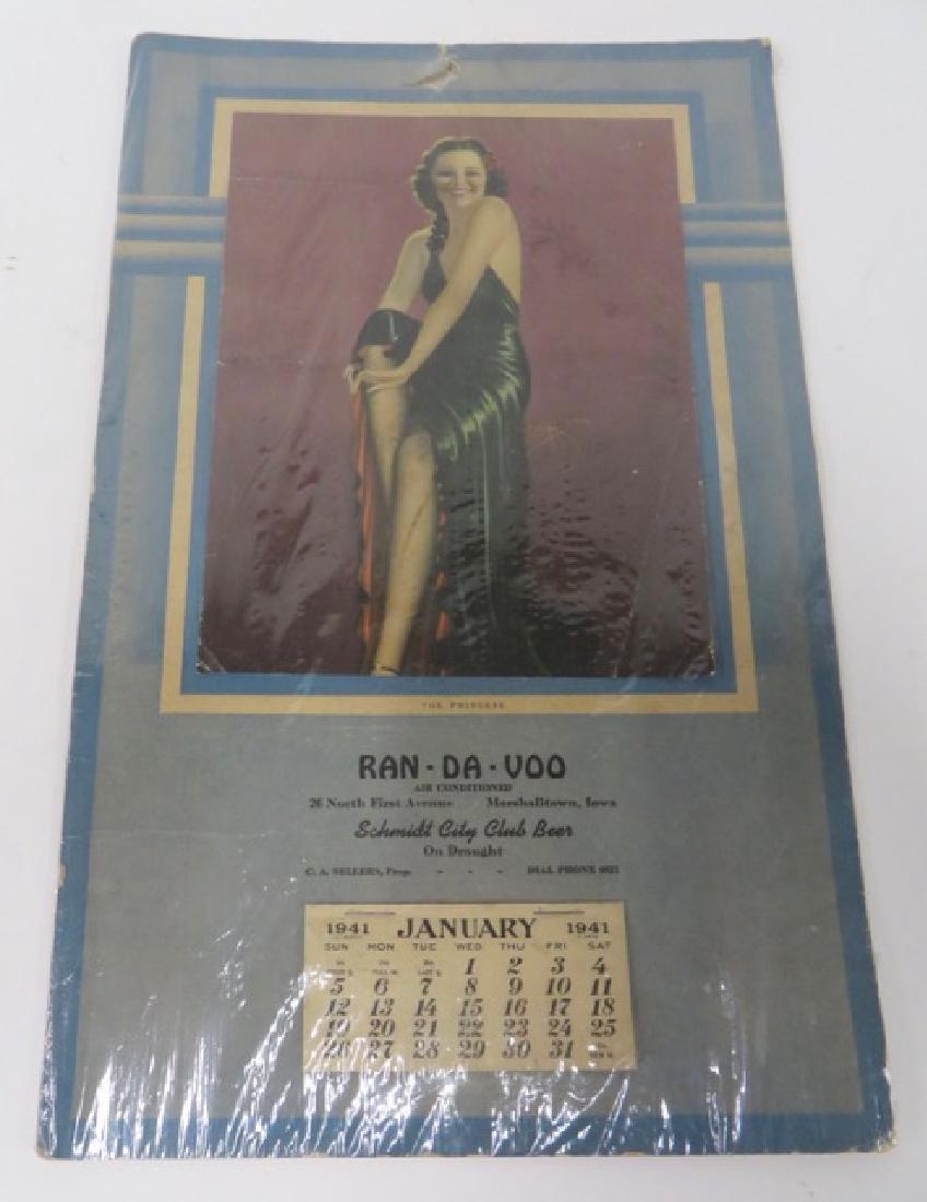 1941 Pin Up Calendar. The Princess. Full Pad