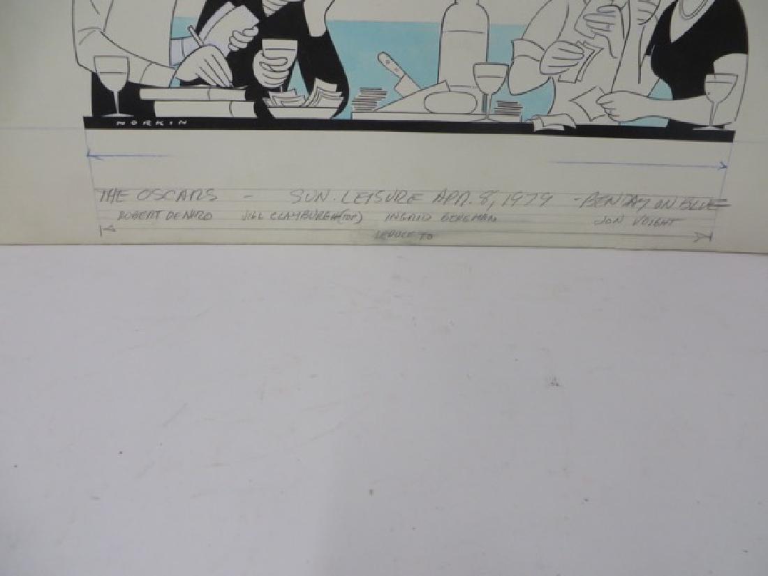 Sam Norkin. Pen and Ink Illustration Sgd. - 3