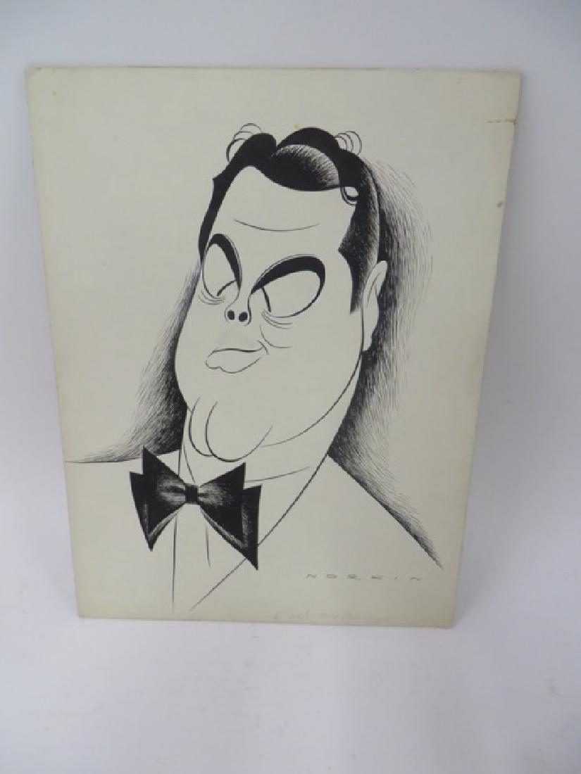 Sam Norkin. Pen and Ink Illustration Sgd.