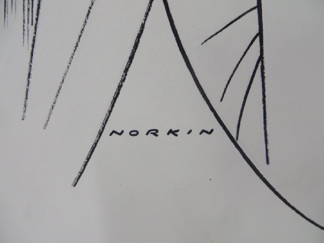 Sam Norkin. Pen and Ink Illustration Sgd. - 3