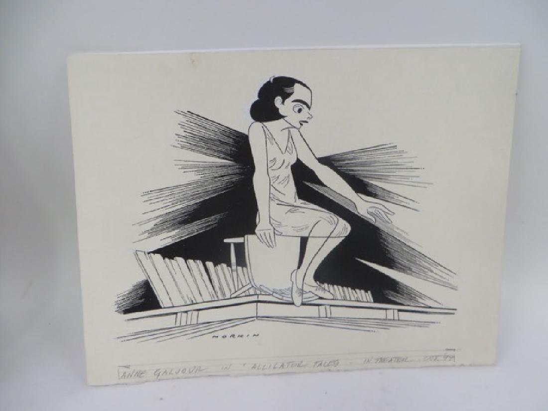 Sam Norkin Pen and Ink Illustration Sgd.