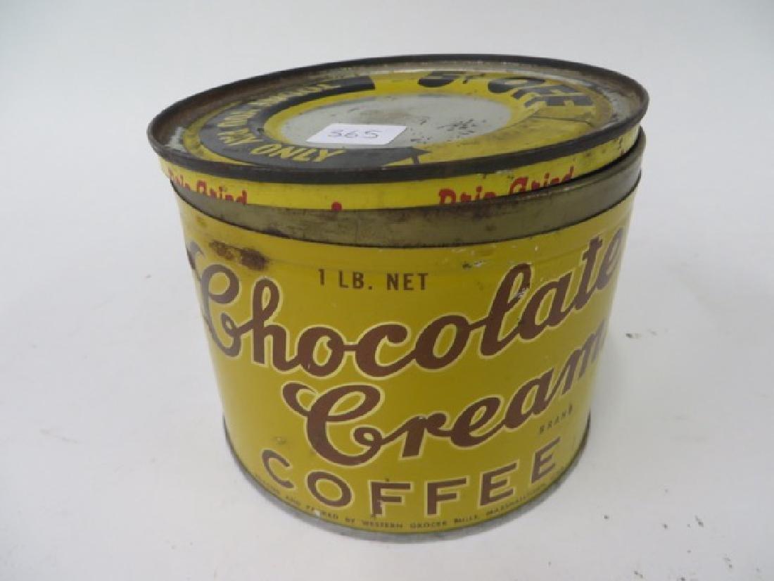 Chocolate Cream Brand Coffee Tin