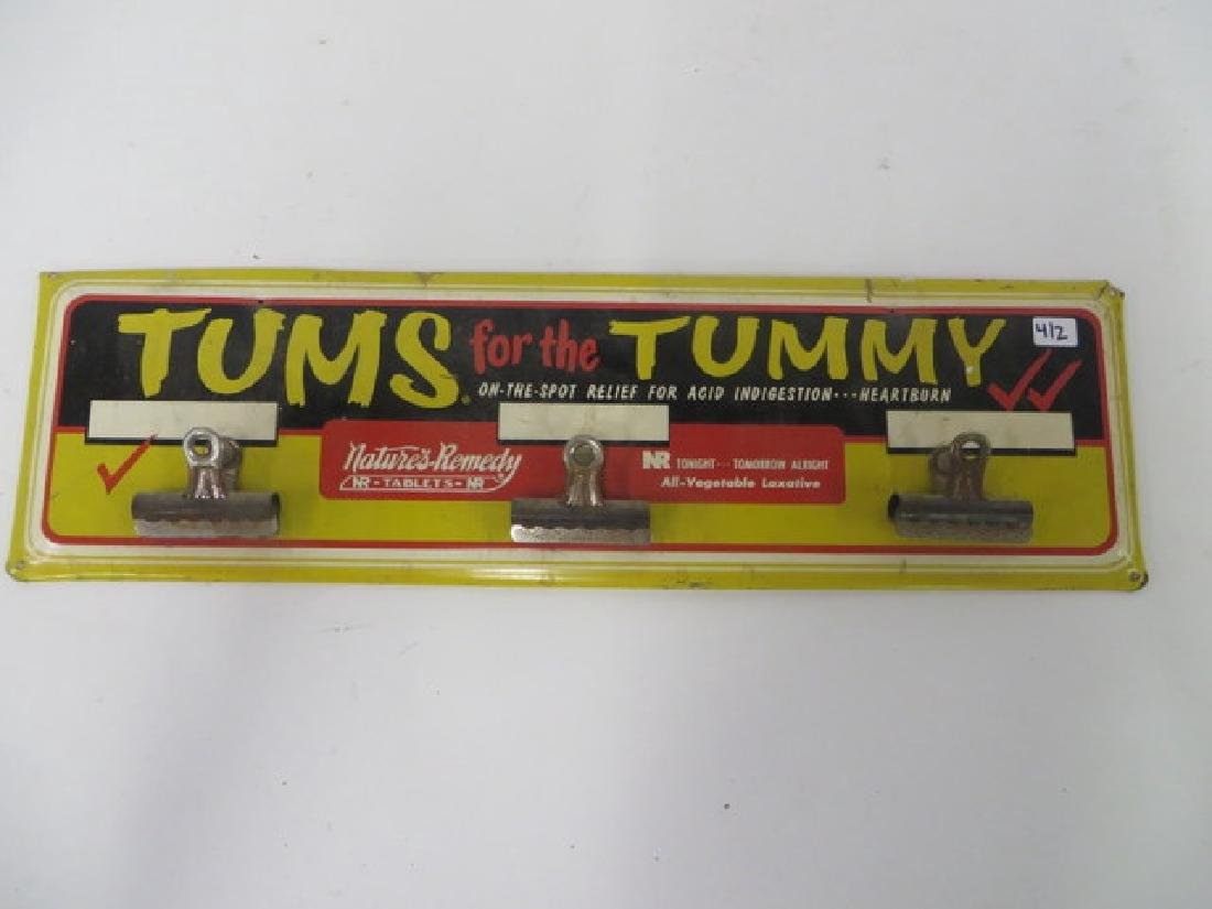 Tums for the Tummy Advertising Sign