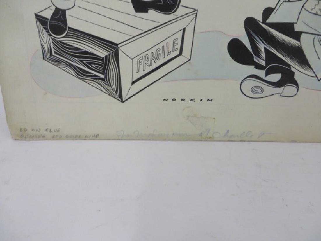 Sam Norkin. Pen and Ink Illustration Sgd. - 2