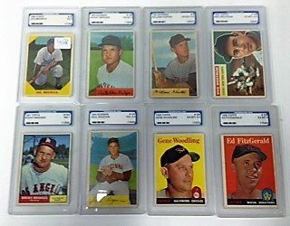 1950's-60's Graded Baseball Cards (8)