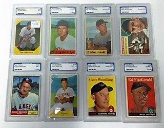 1950's-60's Graded Baseball Cards (8)