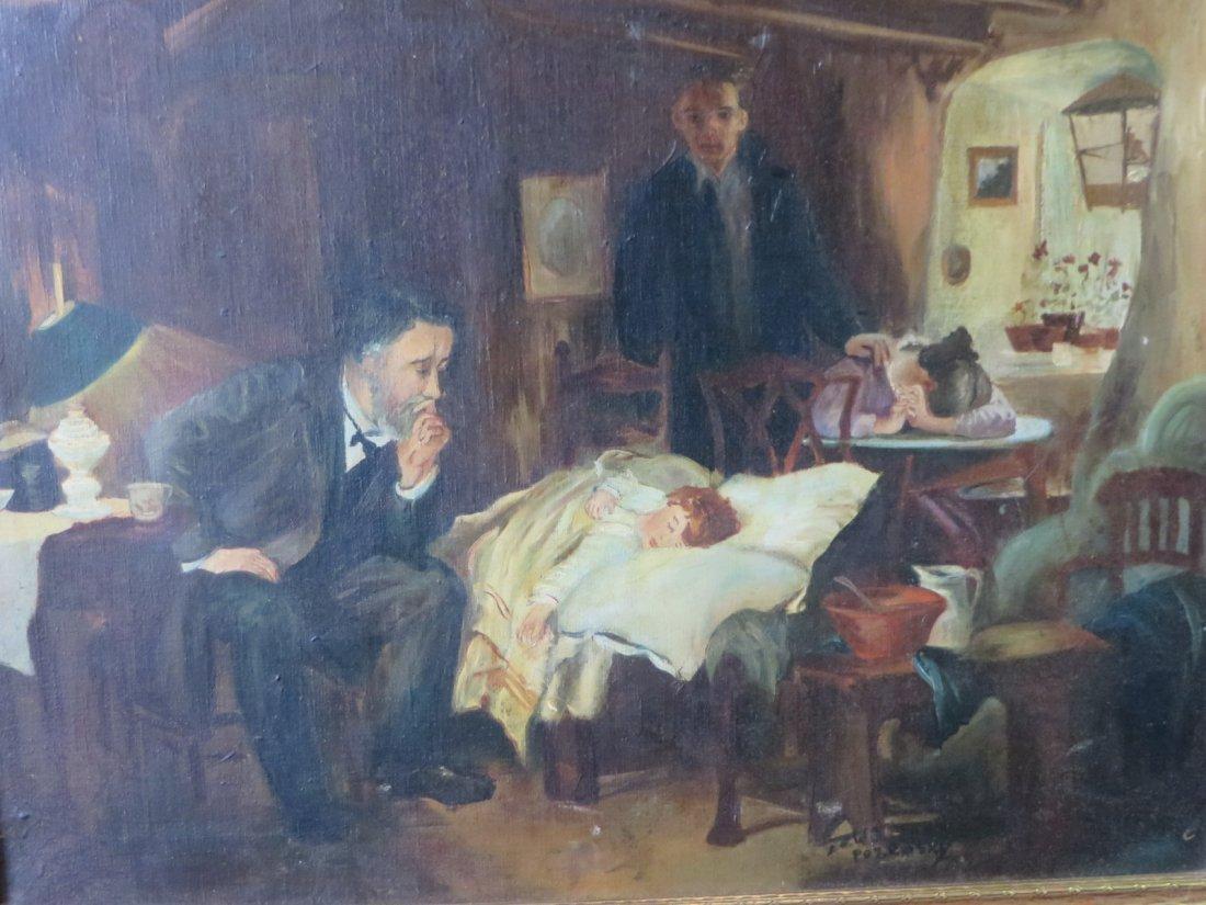 Bozensky. Polish Painting. Signed