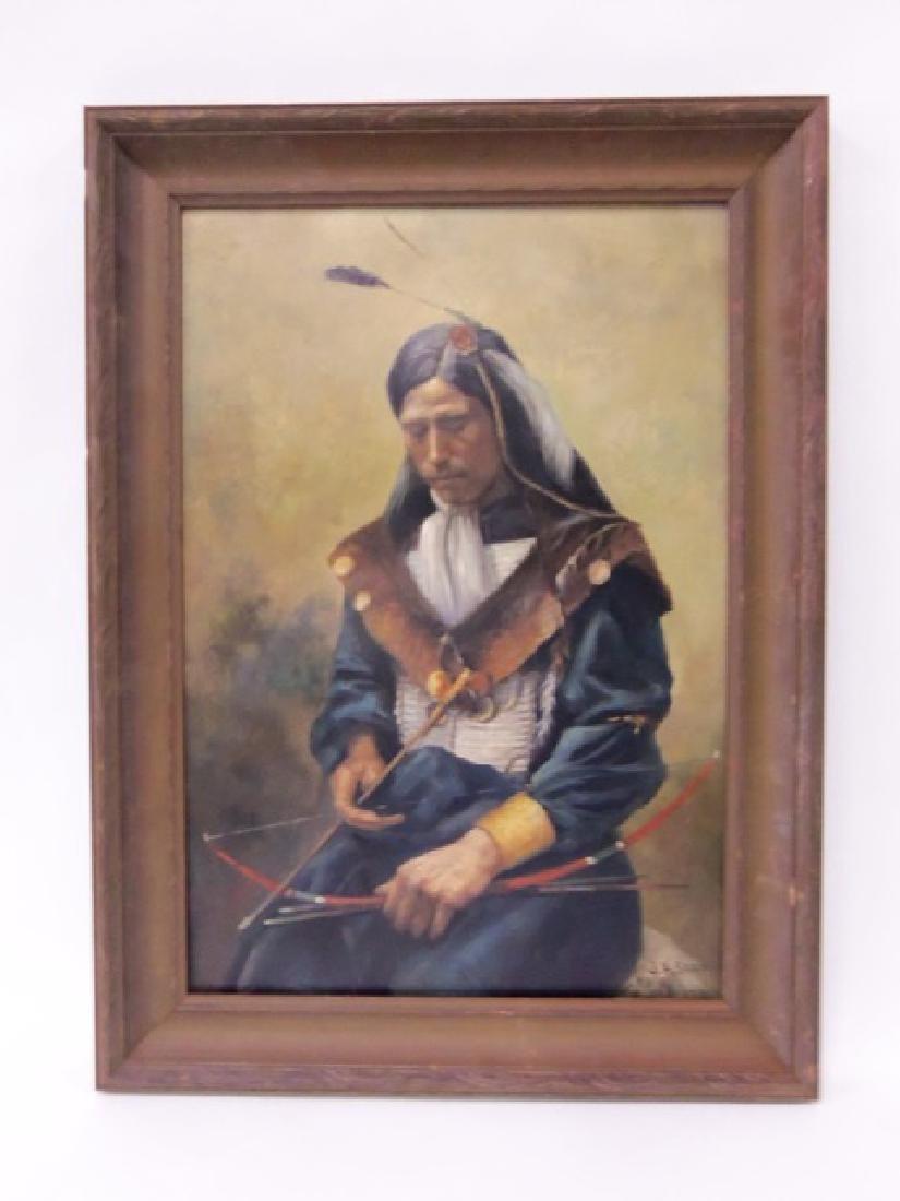 John Henry Sharp. Oil. Indian. Sgd.
