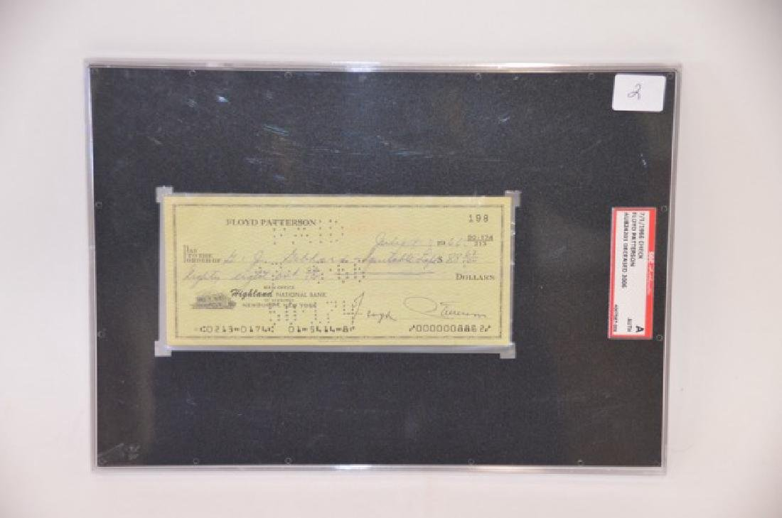 Floyd Patterson Signed Check - 2