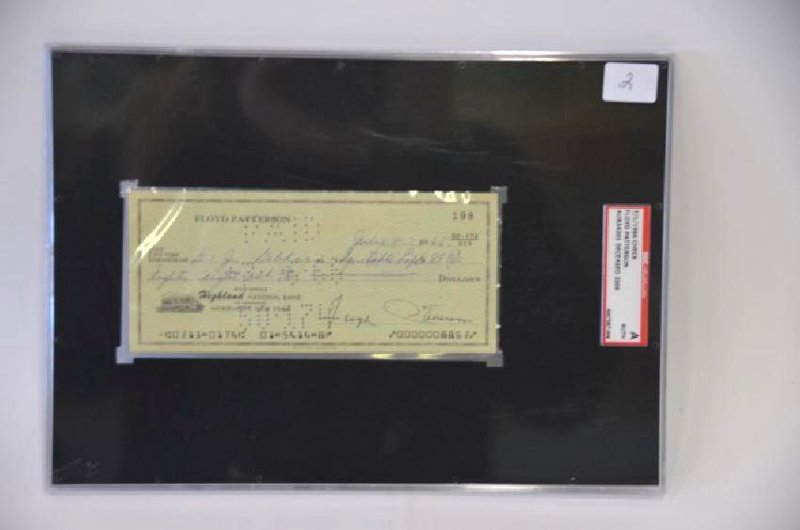Floyd Patterson Signed Check - 4