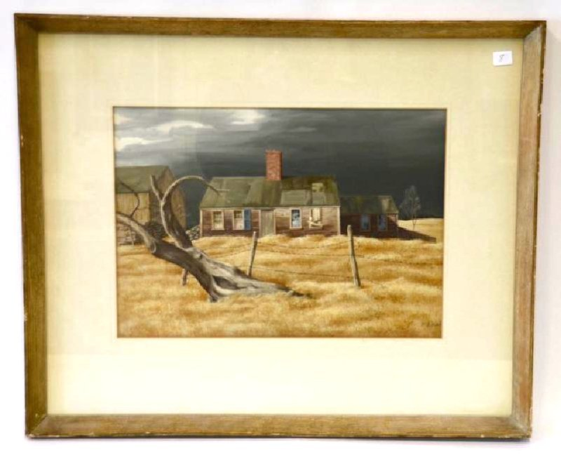Ethel M.  Gilmore. Watercolor. Signed