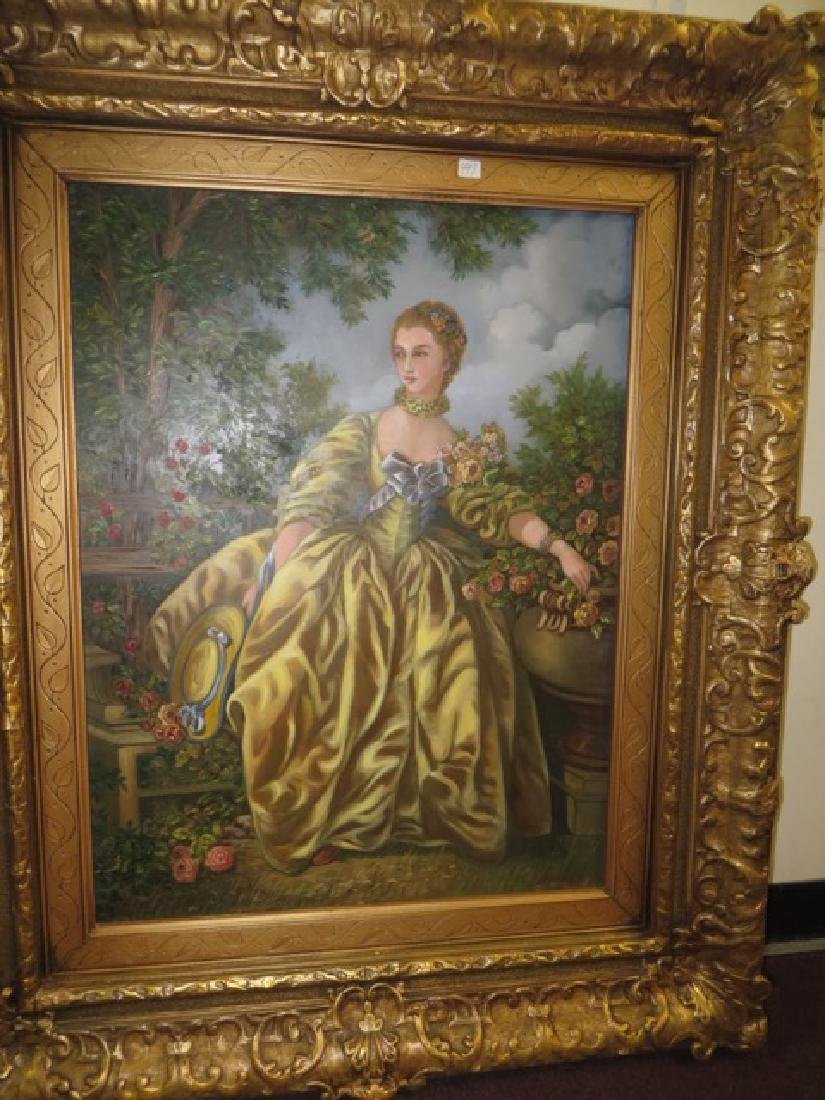 Kristina Nemethy. Oil. After Gainsborough. Sgd. - 2