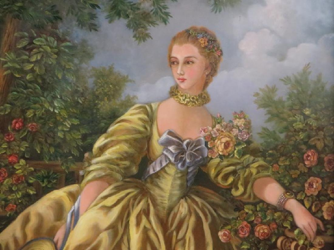 Kristina Nemethy. Oil. After Gainsborough. Sgd. - 4