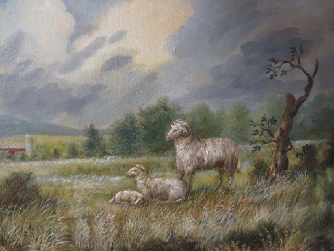 Kristina Nemethy. Oil. Sheep. Signed - 3