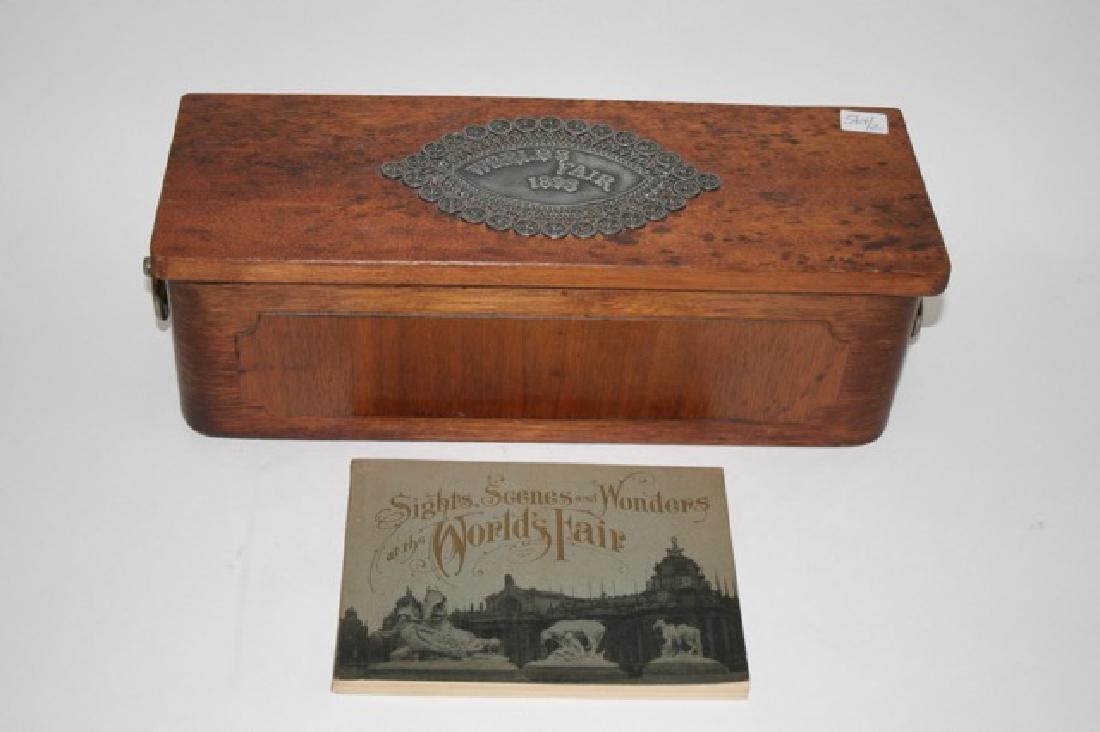 1893 World's Fair Box and 1904 World's Fair  Book