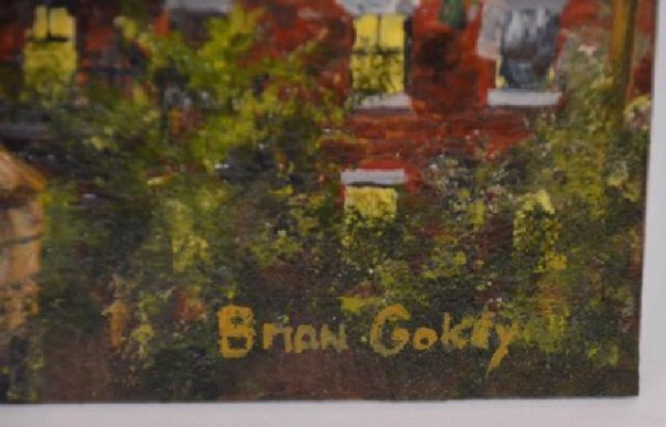 Brian Gokey. Oil. New York City. Sgd. - 2
