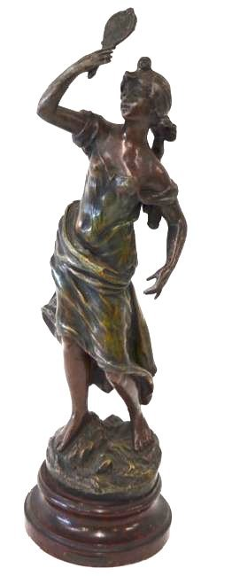 Rousseau. French Bronzed Figure