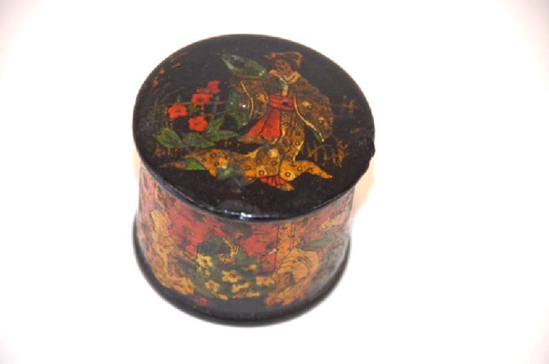 19th C. Lacquered Oriental Box