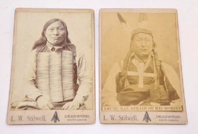Antique American Indian Cabinet Cards (2)