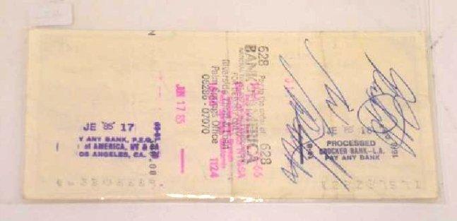 Liberace Signed Check - 3