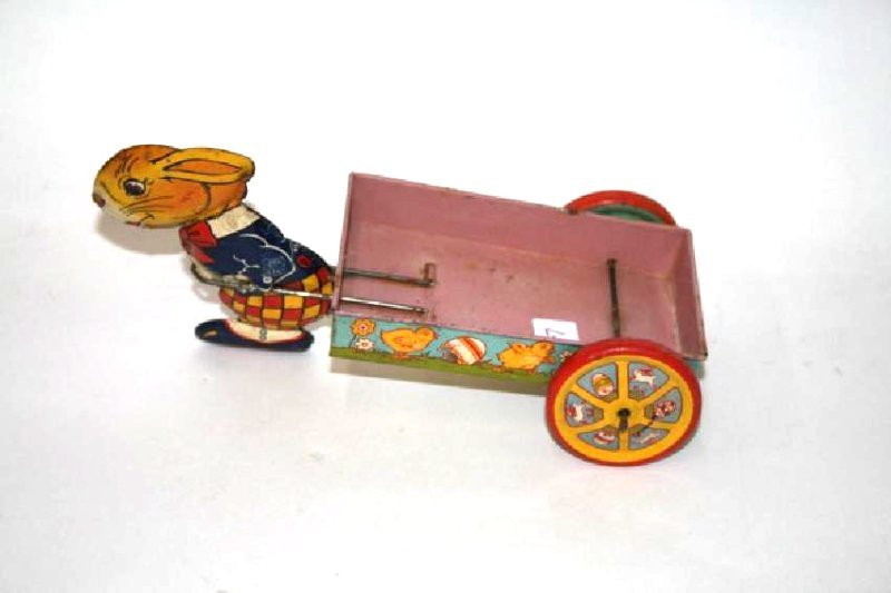 J. Chien Tin Toy Rabbit  Wagon
