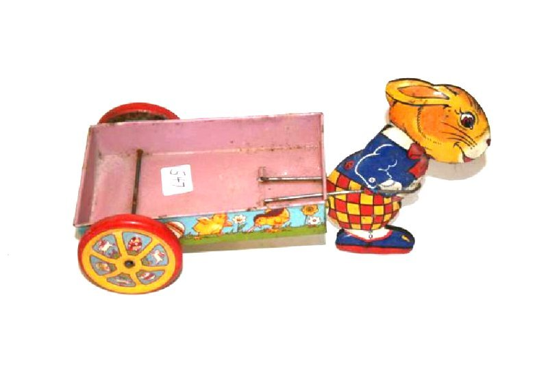 J. Chien Tin Toy Rabbit  Wagon - 2
