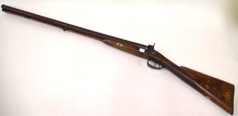 Gold Inlaid Percussian Shotgun 1850's