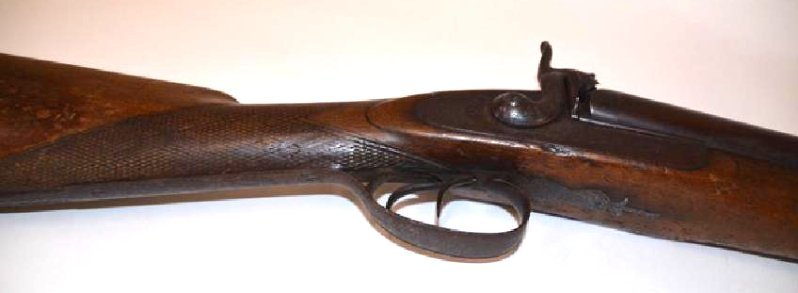 Gold Inlaid Percussian Shotgun 1850's - 4