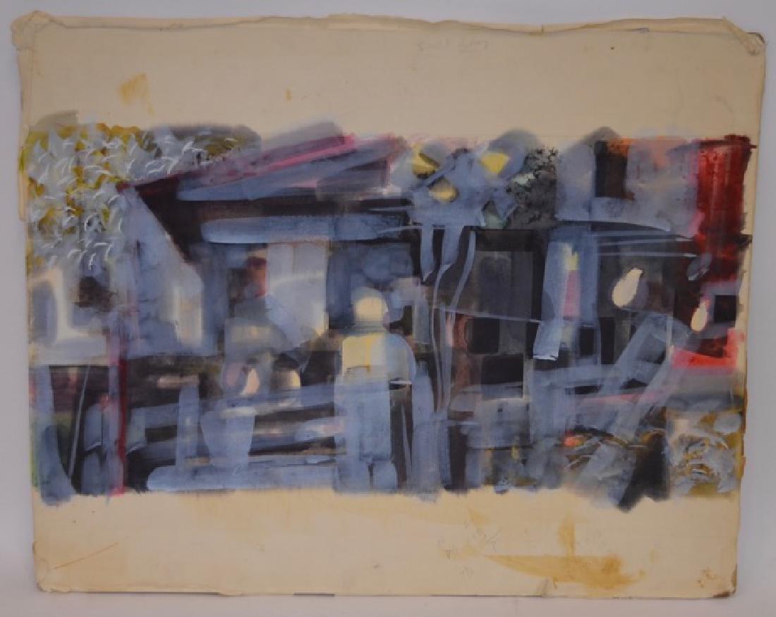 WatercolorPastel on Illustration Board