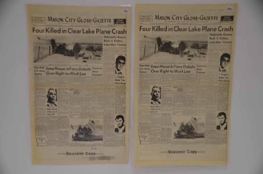 Newspaper Copies of Feb 3 1959 Crash