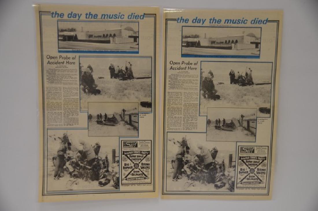 Newspaper Copies of Feb 3 1959 Crash - 2