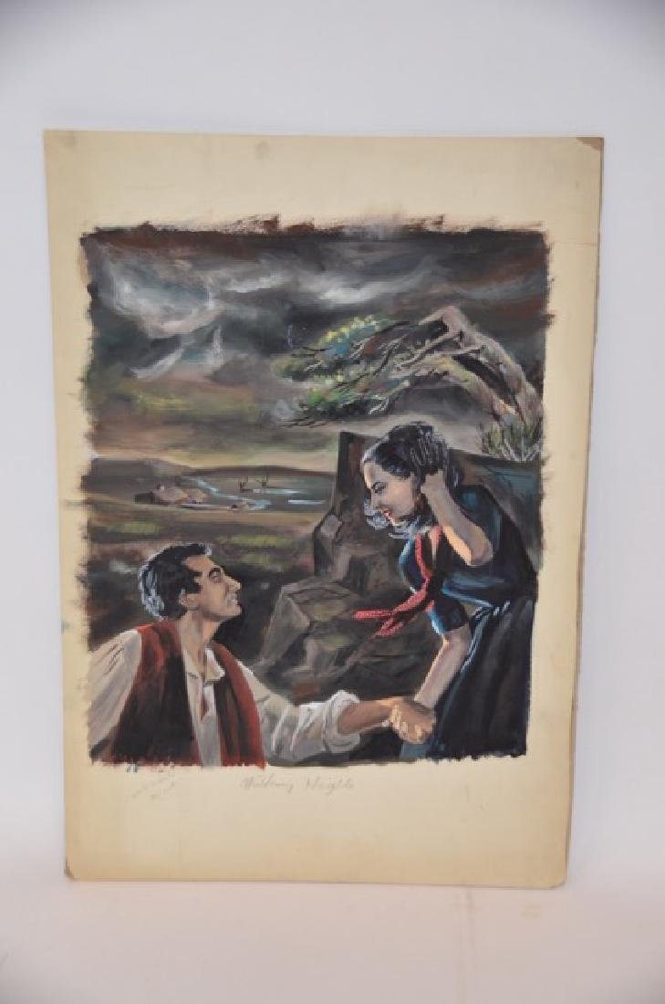 Watercolor Illustration Wuthering Heights