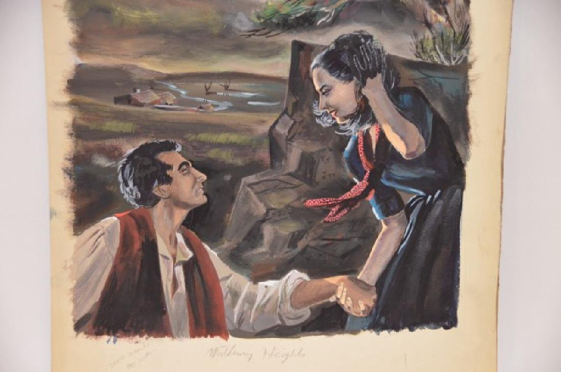 Watercolor Illustration Wuthering Heights - 2