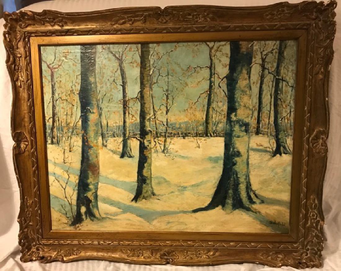 Walter Schofield. Oil. Winter Scene Sgd.