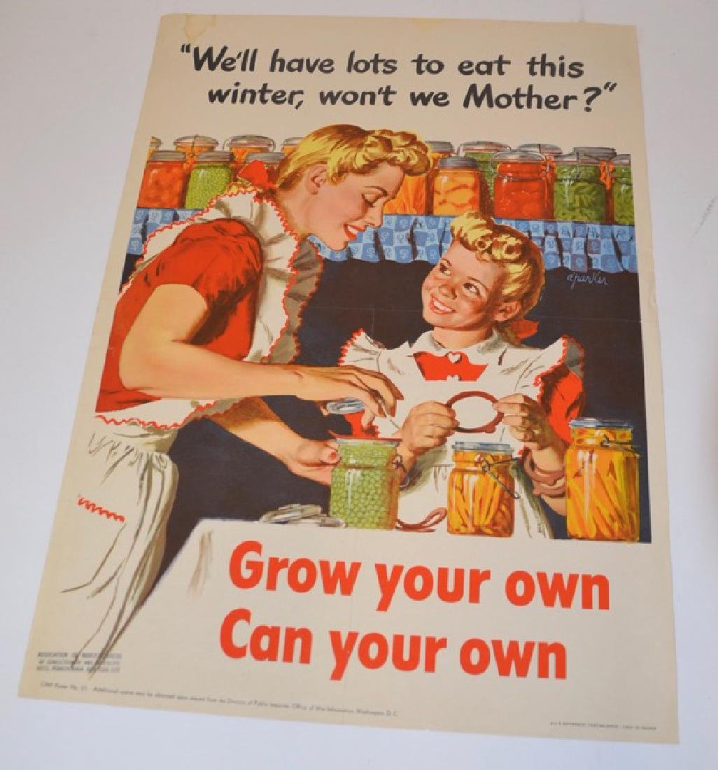 WWII Poster Grow Your Own Can Your Own