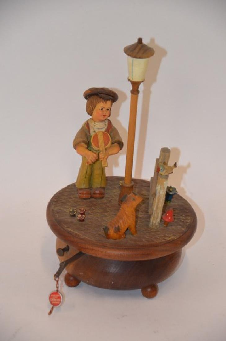 Black  Forest Carved Music Box
