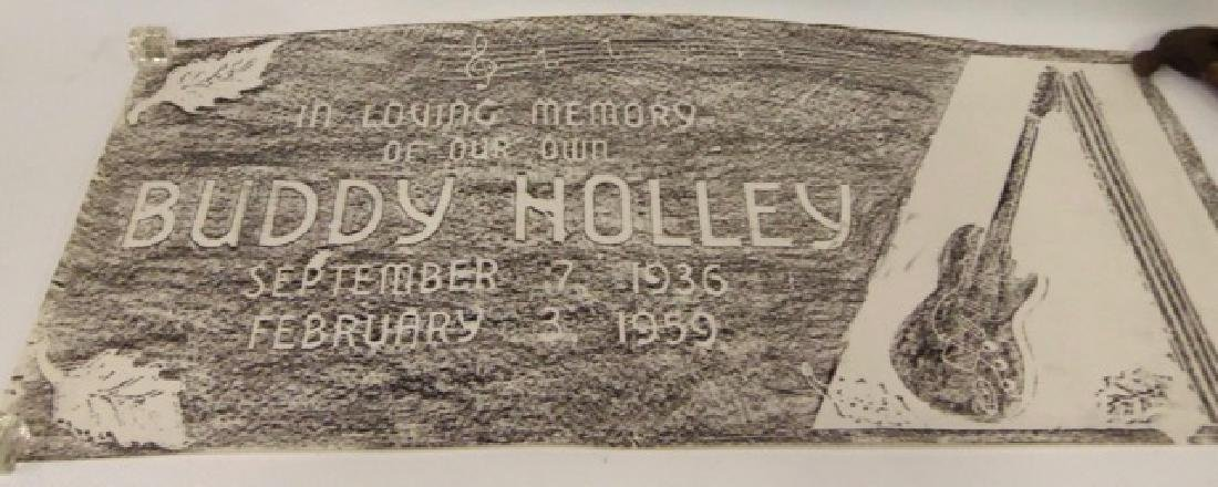 Grave Stone Rubbing Buddy Holly Grave