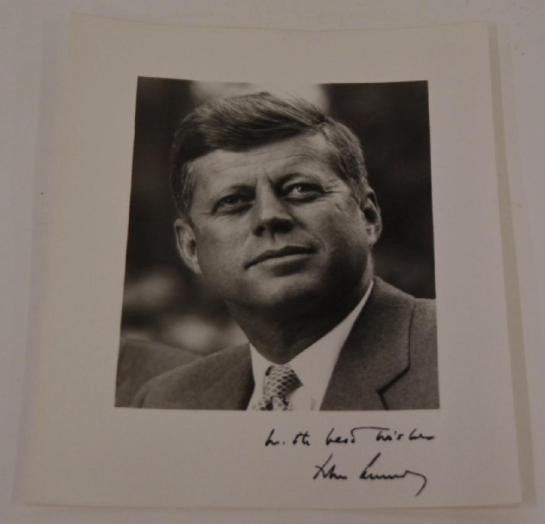 John Kennedy Signed Photograph