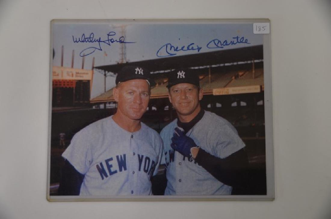 Iconic Mickey Mantle Whitey Ford Photo