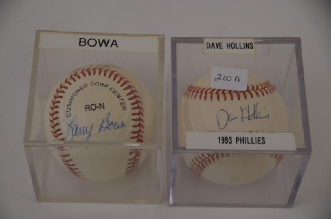 Hollins. Bowa Signed Baseballs (2)