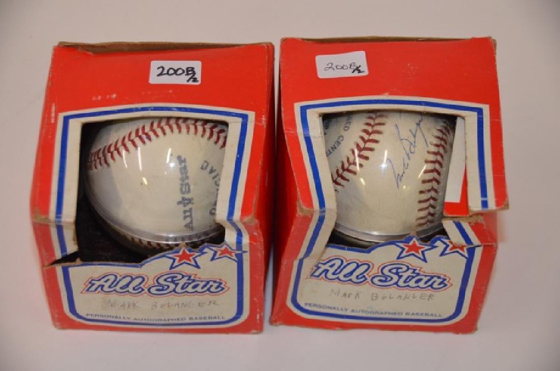 Mark Belonger Signed Baseballs (2) - 2