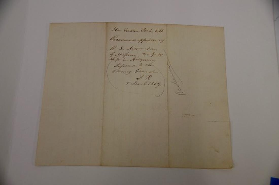 19th C. Political Letter Handwritten Trusten Polk - 2