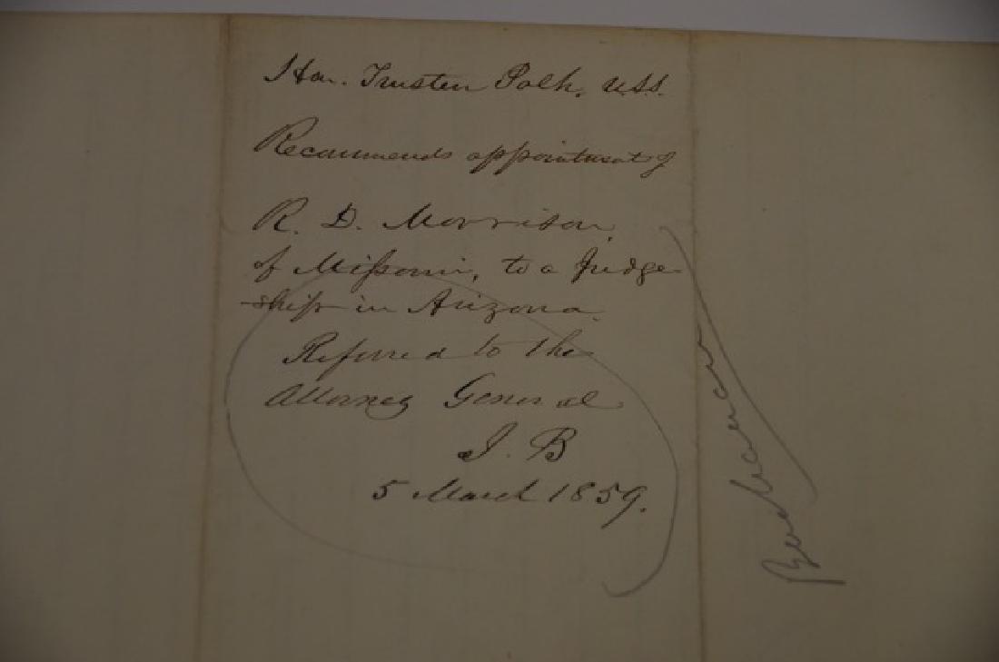 19th C. Political Letter Handwritten Trusten Polk - 3