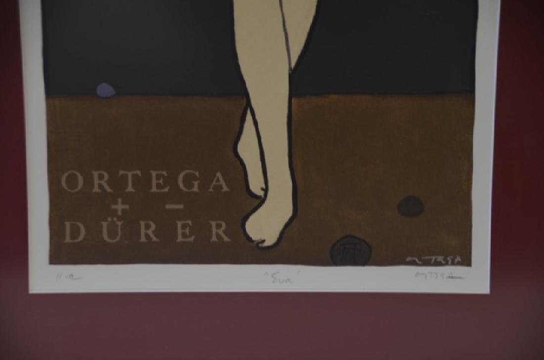 Art Deco Lithograph. Eva. Sgd. Ortega - 2