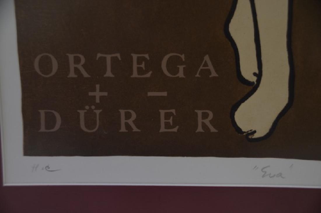 Art Deco Lithograph. Eva. Sgd. Ortega - 4