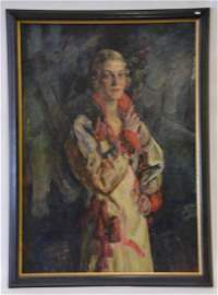 Robert Henri  (Attr. to)  Oil. Art Deco Portrait