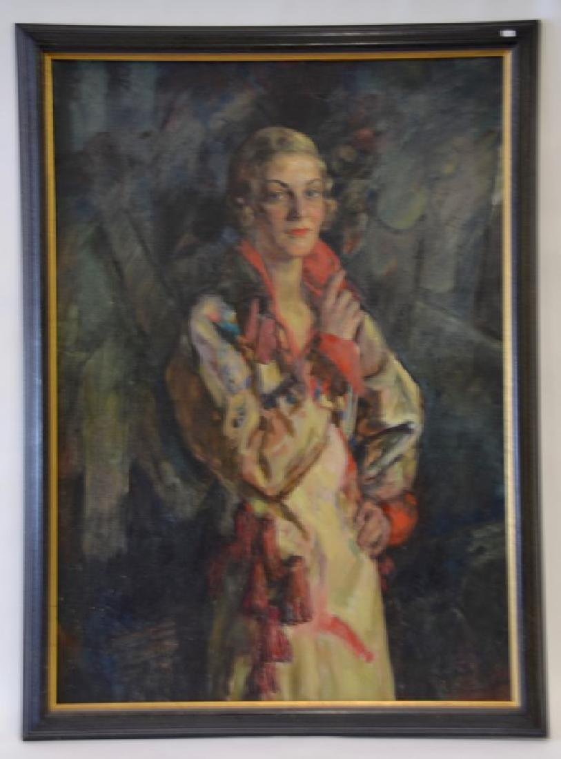 Robert Henri  (Attr. to)  Oil. Art Deco Portrait