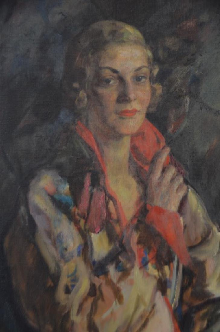 Robert Henri  (Attr. to)  Oil. Art Deco Portrait - 2